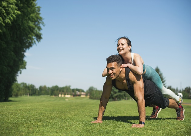couple doing exercise